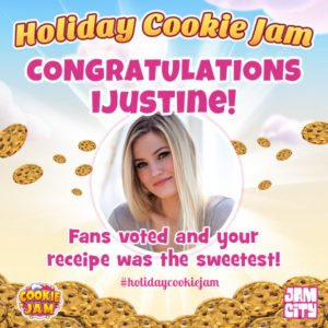 Jam City Marks National Cookie Day By Announcing First Annual Holiday Cookie Jam Winner