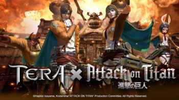 TERA × Attack on Titan Collaboration, Gilded Mask Content Update Come Crashing Onto PCs Today
