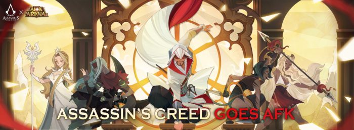 Assassin's Creed Favorite, Ezio, Makes a Leap of Faith into the Fantasy RPG Realm of Mobile Mega-hit, AFK Arena