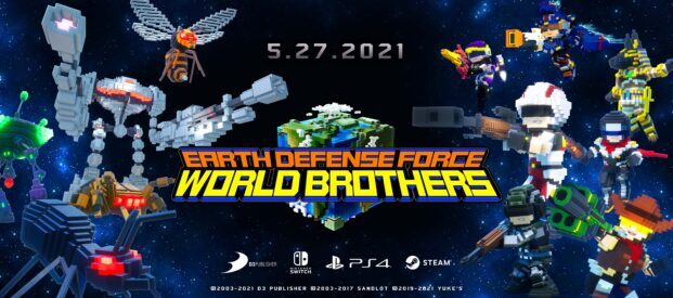 EARTH DEFENSE FORCE: WORLD BROTHERS Sets Digital Debut for Global Markets on May 27 for Nintendo Switch™, PlayStation®4, and Now PC