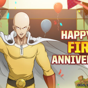 One-Punch Man: Road to Hero 2.0 Celebrates One-Year Anniversary with New Characters and Special Events on iOS and Android