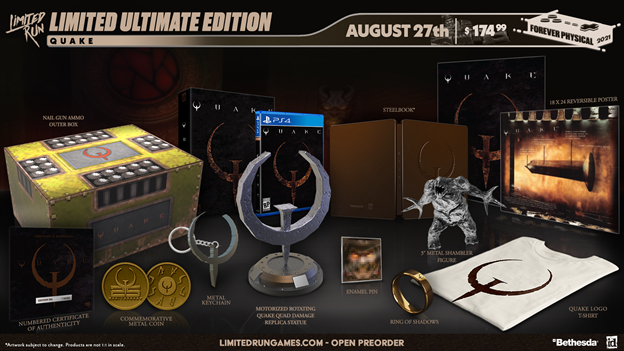 Limited Run Games to Load Up Pre-orders for its Quake Collector's Editions Starting on Aug. 27